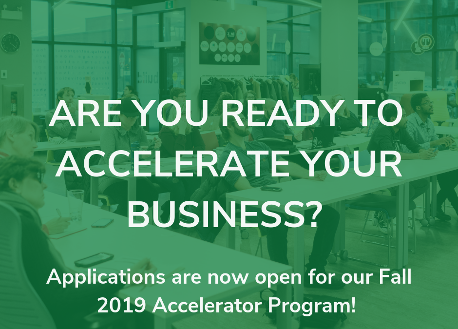 PRESS RELEASE: Startup Zone Now Accepting Applications for Fall 2019 Accelerator Program
